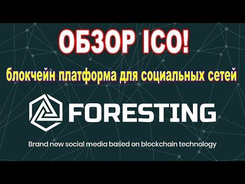 Обзор ICO Foresting.  Блокчейн платформа для социальных сетей!