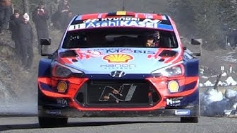 Thierry Neuville at Rallye Monte-Carlo 2020 - Hyundai i20 WRC pushed to the LIMIT!