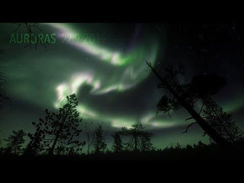 Auroras 27.9.2019 (4K TIMELAPSE)