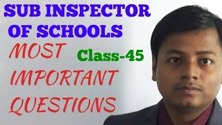 sub inspector of schools 2018||education and child psychology||