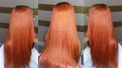 Teyana Taylor Orange Hair Closure Sew In