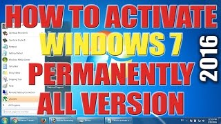 How to Activate Windows 7 Ultimate 2016 - All Versions Activate