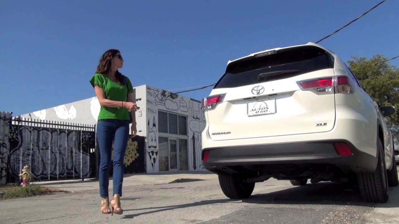 2014 Toyota Highlander Lxe Power Lift Gate Youtube