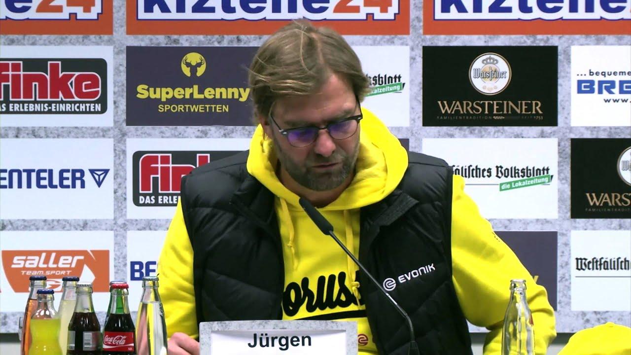 """Jürgen Klopp sauer auf Schiris: """"Anders regeln""""   SC Paderborn 07 - Borussia Dortmund 2:2"""