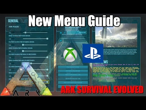 ARK: NEW MENU CONSOLE GUIDE - UPDATE v755/v509 - XBOX/PS4 - (Ark: Survival Evolved)