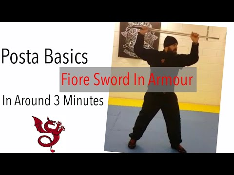 Fiore Sword In Armour | Posta Basics in 3 Minutes  | Exiles Vlogs