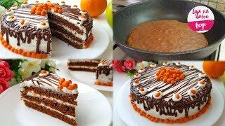Торт БЕЗ выпечки - Просто Фантастика! Быстрый и нежный рецепт (на сковороде)