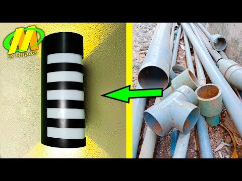 Make a pipe lamp # You Can Get Tens of Million !!