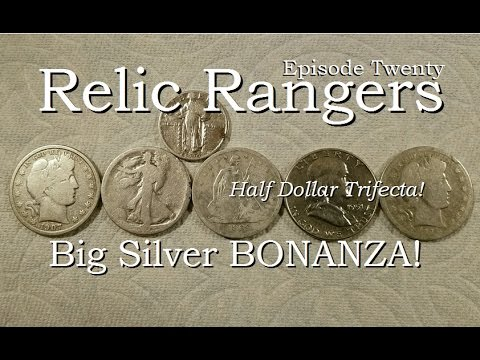Relic Rangers - Big Silver BONANZA Half Dollar Trifecta Seated, Barber, Franklin Metal Detecting WA