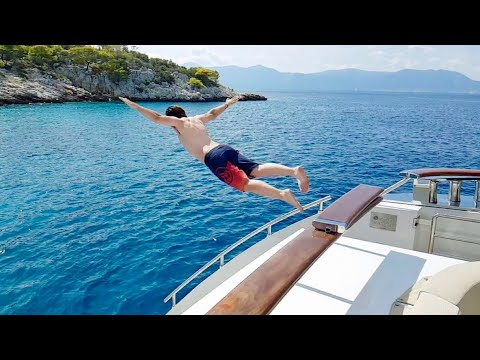 THE SUPER YACHT LIFE IN GREECE! 4000bhp Lady Dee