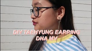 [DIY] BTS V DANGLING EARRING // DNA MV(*´▽`*)
