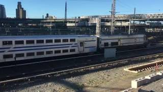 LIRR 504 (DM30AC) heading E/B w/ C3 bi-level coach consist & L…