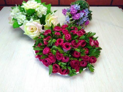 Праздничный салат букет роз! Салат на новый год 2019