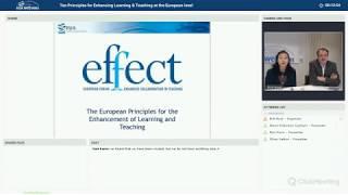 EUA webinar: Ten Principles for Enhancing Learning & Teaching at the European level thumbnail
