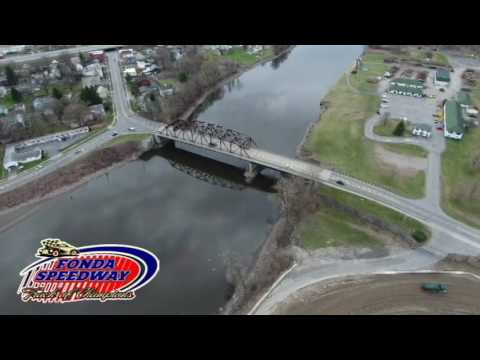 Fonda Speedway Fly Over - Aerial View
