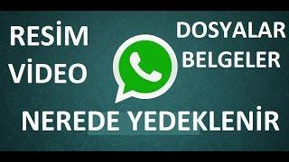 whatsapp konuşmalar nereye yedekleniyor
