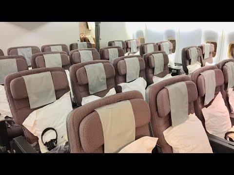 Qantas B747 PREMIUM ECONOMY | QF128 Hong Kong to Sydney