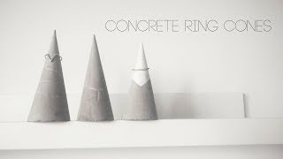 DIY Concrete Ring Holders
