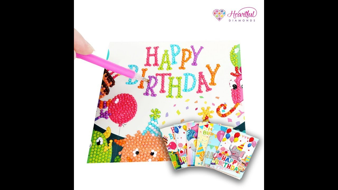d1357b1348 Birthday Celebration Cards - Special Drill 5D Diamond Painting Kit (DIY) -