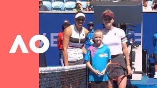 Elina Svitolina and Madison Keys on-court warm up (4R)   Australian Open 2019
