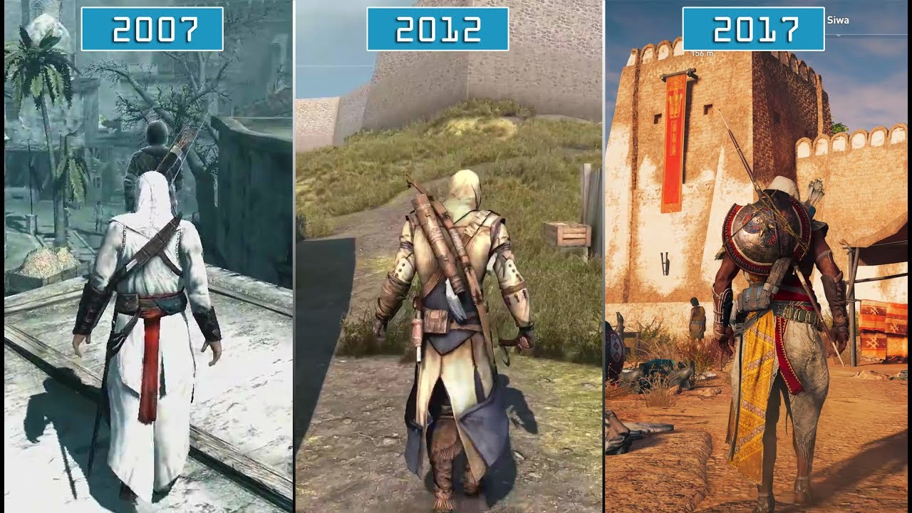 All Assassin S Creed Games 2007 2017 Graphics Evolution Hd