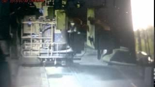 BHP wypadek zarerejestrowany na kamerze przemysłowej