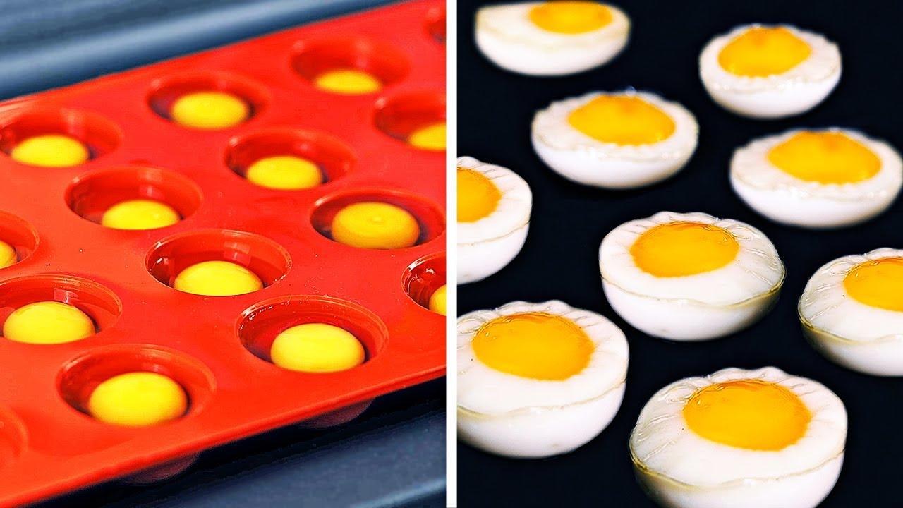 Trik dan Resep Telur MINI Vs. RAKSASA || Kiat Memasak Telur