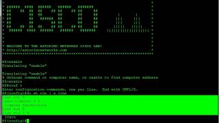 Configuring Remote Access - Telnet & SSH