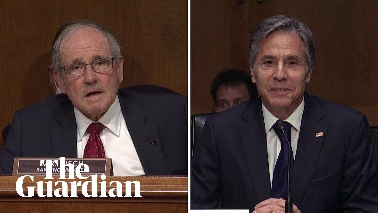 Download Antony Blinken chuckles as Republican senator makes Joe Biden mute button claims
