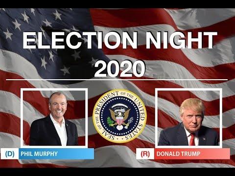 Phil Murphy vs Donald Trump   2020 Election Night