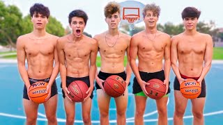 EXTREME STRIP BASKETBALL w/ Brent Rivera & Ben Azelart