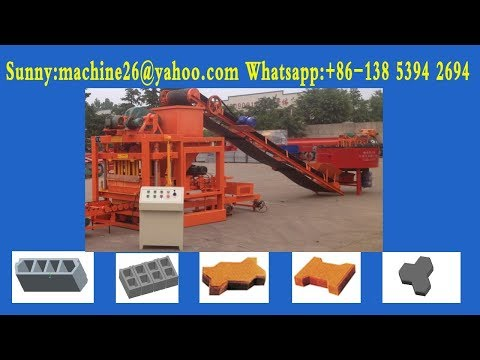 QTJ4 26C construction cement blocks maker working in Nigeria