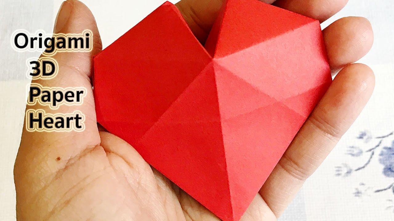 Origami 3D Paper Heart