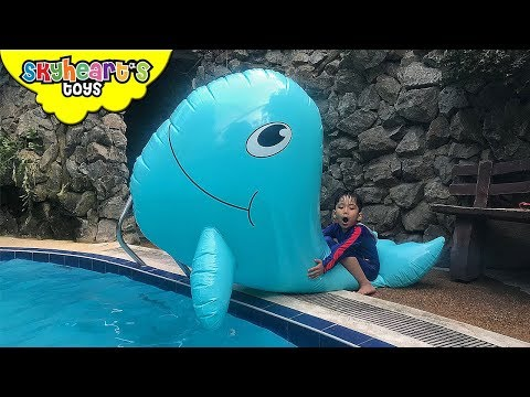 Thumbnail: Toddler caught a GIANT WHALE and SWORDFISH | Skyheart attack swimming shark toys kids