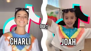 8 Year Old Does TikTok Duet With Charli D'Amelio 💜