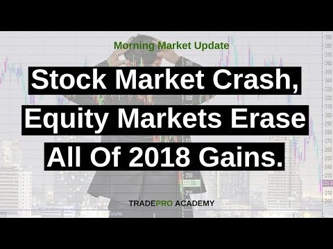 Stock market crash, equity markets erase all of 2018 gains. - YouTube