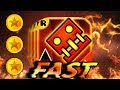 FAST Geometry Dash Meltdown All Levels 1 3 100 Completed All Coins mp3