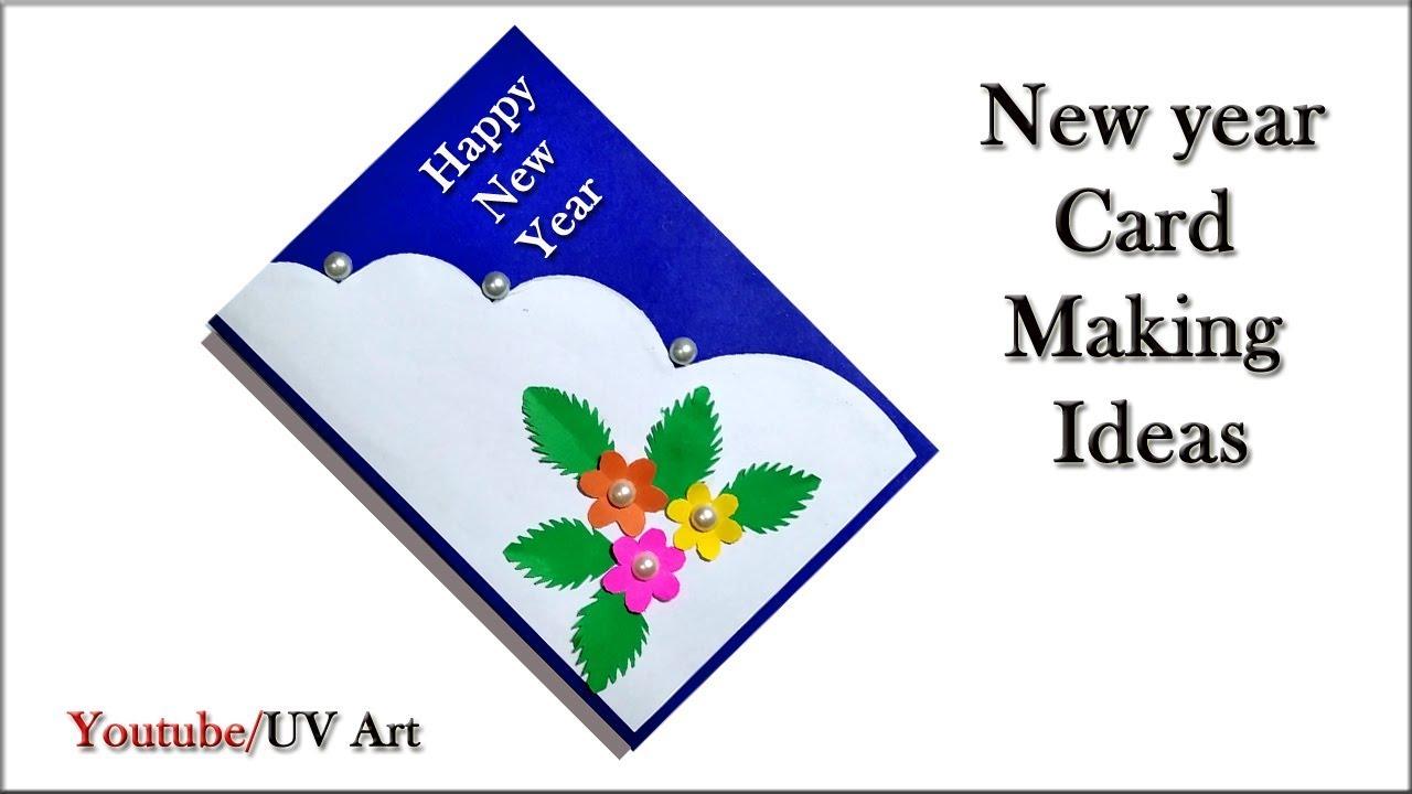 diy new year greeting card 2020  handmade new year