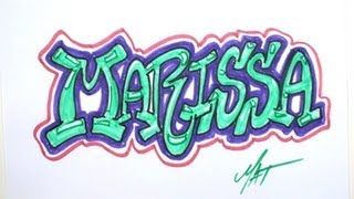 Graffiti Writing Marissa Name Design - #9 in 50 Names Promotion