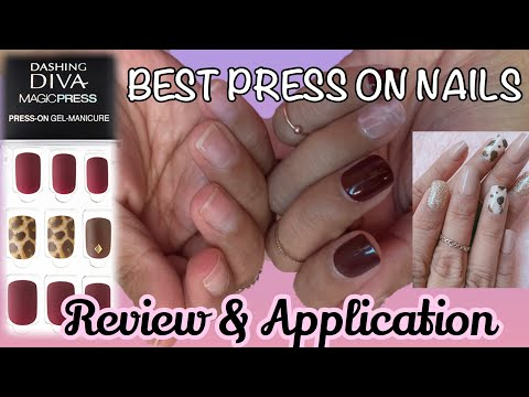 The Best Press On Nails - Review & Application Of Dashing Diva