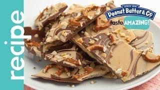 Milk Chocolate Pretzel Peanut Butter Bark recipe