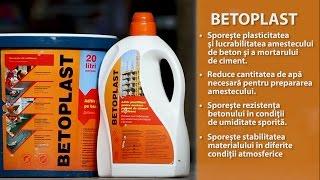 BETOPLAST - aditiv plastifiant pentru mortare pe baza de ciment si betoane