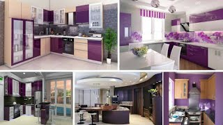modular purple kitchen design ideas|| modern kitchen cabinets decorating ideas|| kitchen design idea