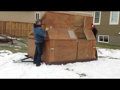 Homemade Ice Fishing Hut