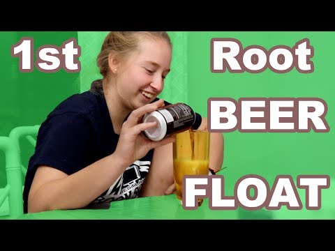 EXCHANGE STUDENT Tries a Rootbeer Float! (fail)