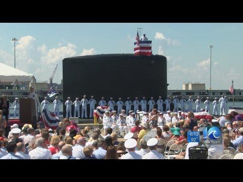 Joe Fisher on USS John Warner commissioned