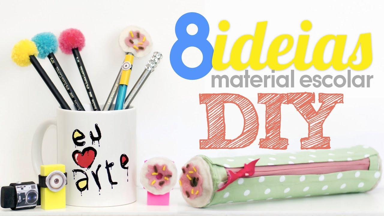 Amado 8 ideias de material escolar DIY | Especial volta às aulas - YouTube IQ42