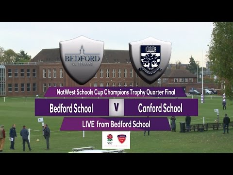 Highlights: Natwest Schools Cup - Champions Trophy 2016 1/4-Final  Bedford School v Canford School