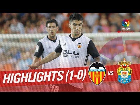 Resumen de Valencia CF vs UD Las Palmas (1-0)