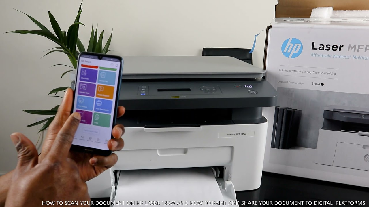 HOW TO SCAN YOUR DOCUMENT ON HP LASER 135W AND HOW TO PRINT AND SHARE DIGITAL